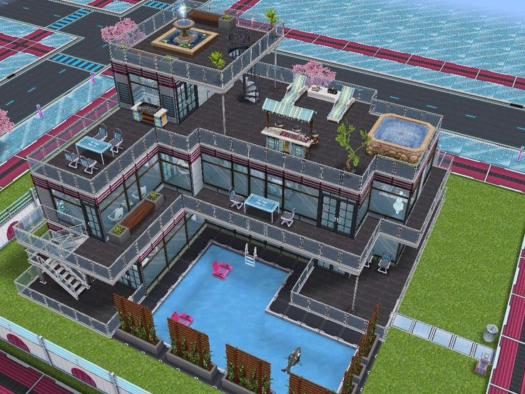 House 86 Neo Tokyo house full view #sims #simsfreeplay #simshousedesign