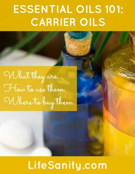 Essential OIls 101: Carrier OIls | Life Sanity