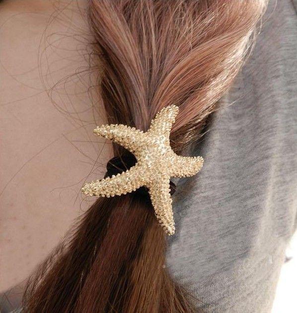 Barato Especial europeus e americanos rua shoot metálico ouro starfish cabelo anel de cabelo corda, Compro Qualidade Jóias para cabelo diretamente de fornecedores da China:     Nenhuma ordem mínima!  Você pode encomendar 1pcs!  Encomenda <$5 frete China Post Ordinária pequenos pacotes Plus