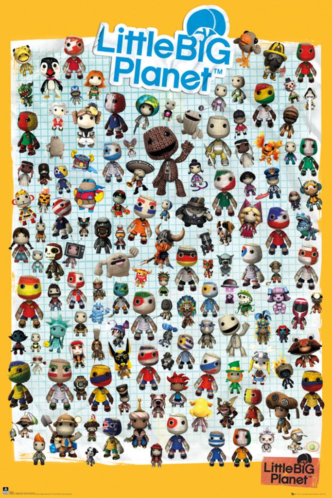 Little Big Planet 3 Characters - Official Poster. Official Merchandise. Size: 61cm x 91.5cm. FREE SHIPPING