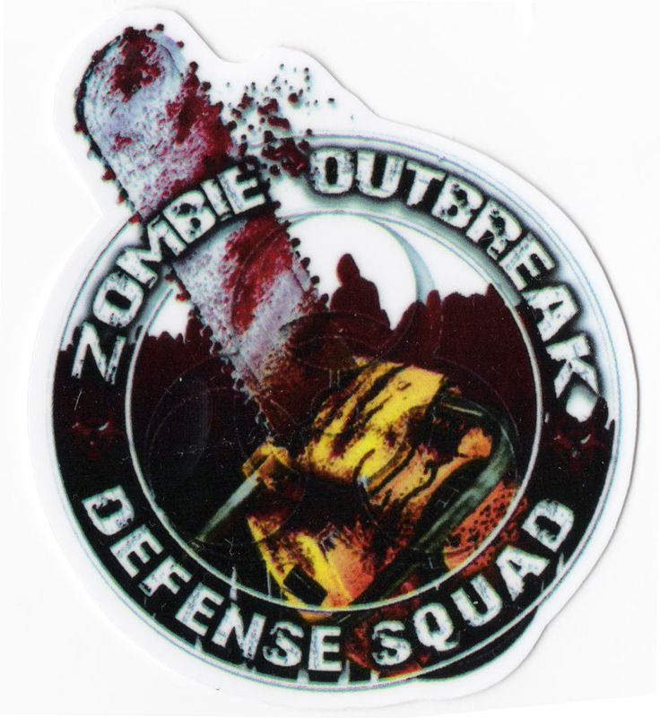 ZOMBIE OUTBREAK CHAINSAW Sticker Decal for Skateboards Scooter Phone Guitar Case