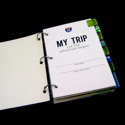 Kid's travel journal (make one for kids before vacation...could keep them occupied at restaurants by having them fill it out each evening...plus a fun keepsake)