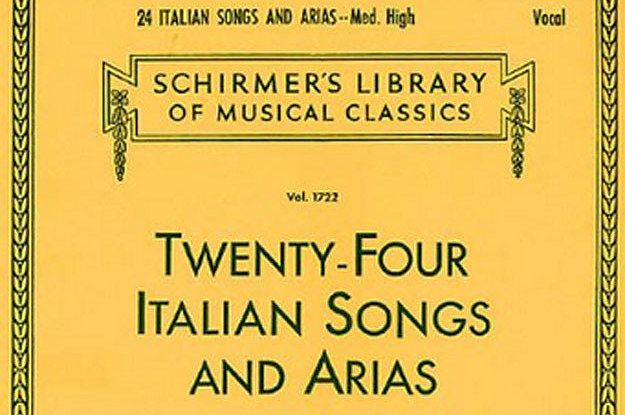 "FUNNY! ~ A Definitive Ranking Of ""Twenty-Four Italian Songs And Arias"" - Tu lo sigh."