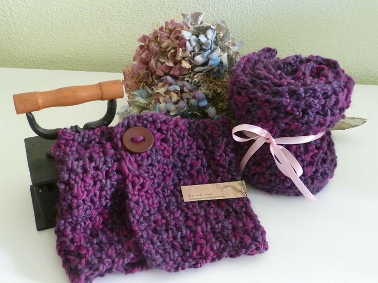 Bufanda y cuello de lana