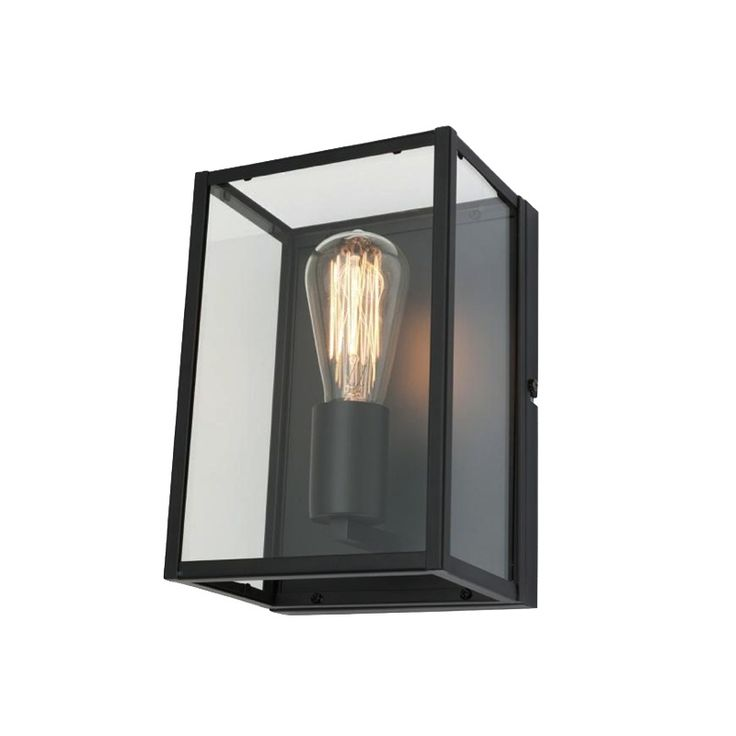 Manchester Wall Light Black Metal with Glass Mercator MG6211, $89.00
