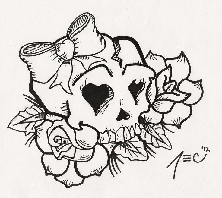 skullTattoos | Girly Skull Tattoos