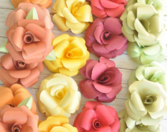 Papel flores  flores de la boda  Home Decor