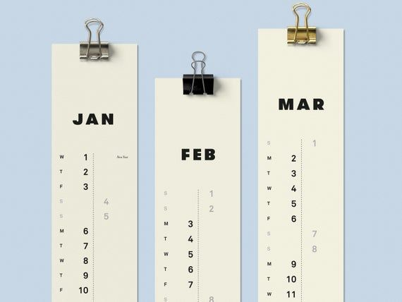 2018 Super Slim Calendar 3 Months to View Monthly Planner Wipe off Calendar,