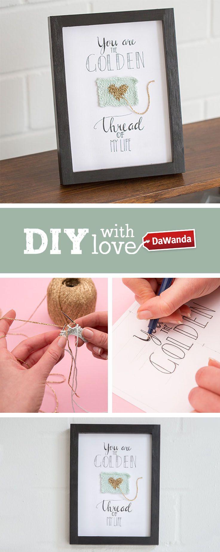 Connaissez-vous le lettering ? On vous montre comment faire une jolie création caligraphiée, dans notre tutoriel DIY <3 Sur DaWanda.com !  #diy #lettering #caligraphie #dowhatmakesyouhappy