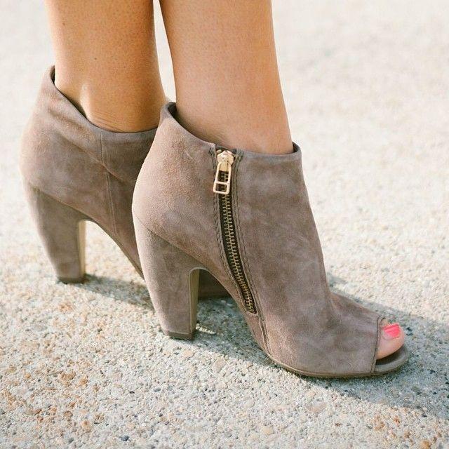 Open toed booties ?