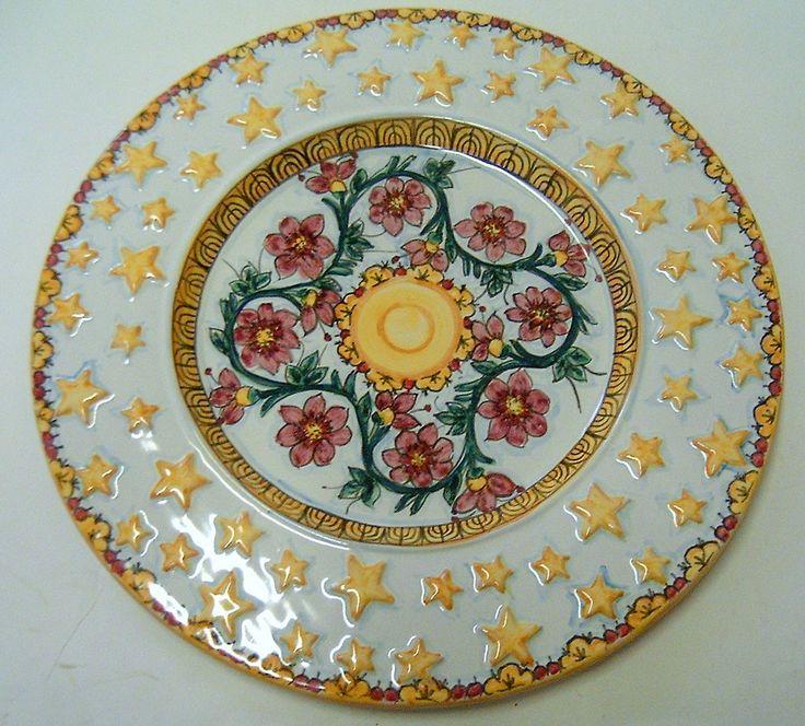 Piatto da portata in ceramica dipinta a mano., by ilciliegio, 20,00 € su misshobby.com
