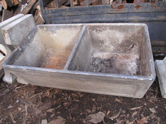 Sinks : Vintage Concrete Laundry Tub B Bathrooms/Tubs/Showers/Toile ...