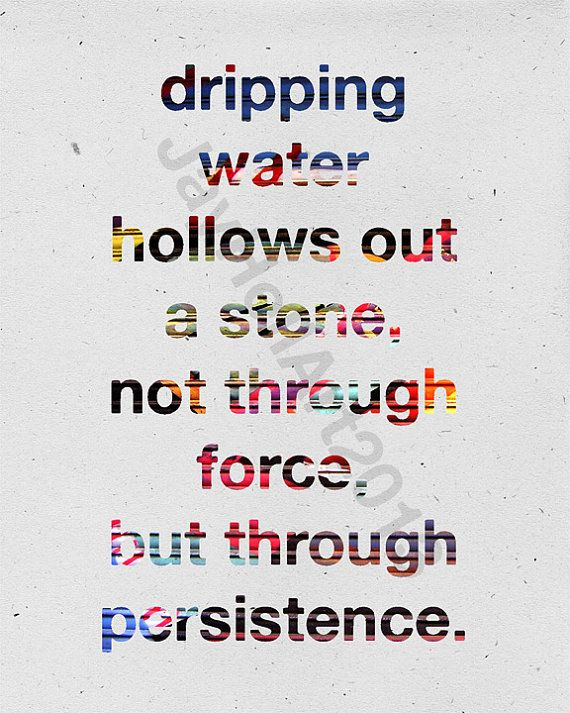 Dripping Water Inspirational Quote Digital File Instant by JayHell, £3.00