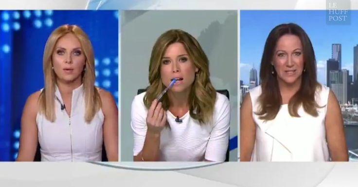 """À quelques minutes d'un direct sur la chaîne """"9News"""", les trois femmes se sont lancées dans une discussion surréaliste (et filmée)."""