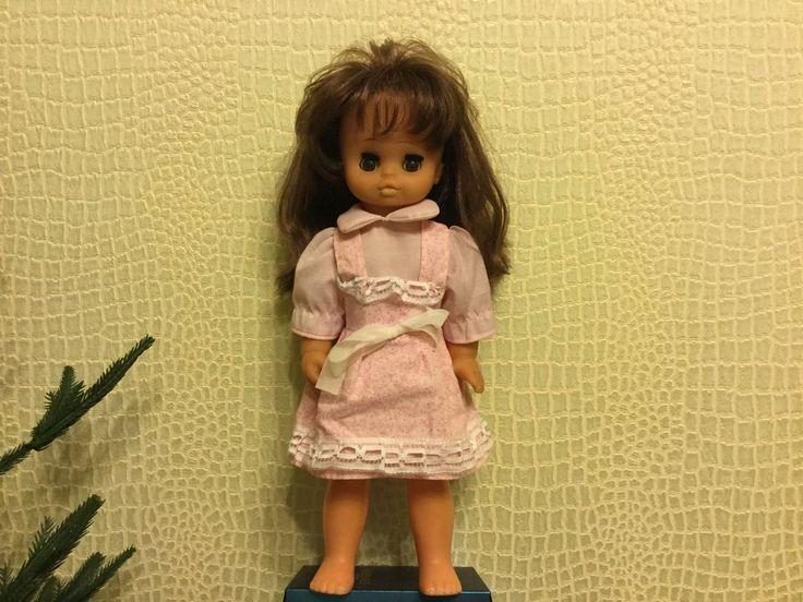 Винтажная куколка ГДР,35 см, номерная. Состояние очень хорошее, родной мейк, спящие глазки, шикарные волосы, родное платье. Голова и ручки из бархатистого винила, тело и ножки- пластмасса, диски...