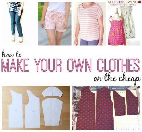 How to Make Your Own Clothes- 173 free tops that are useful for beginners and more experienced sewists alike. Look good, save money and have a varied selection in your wardrobe.