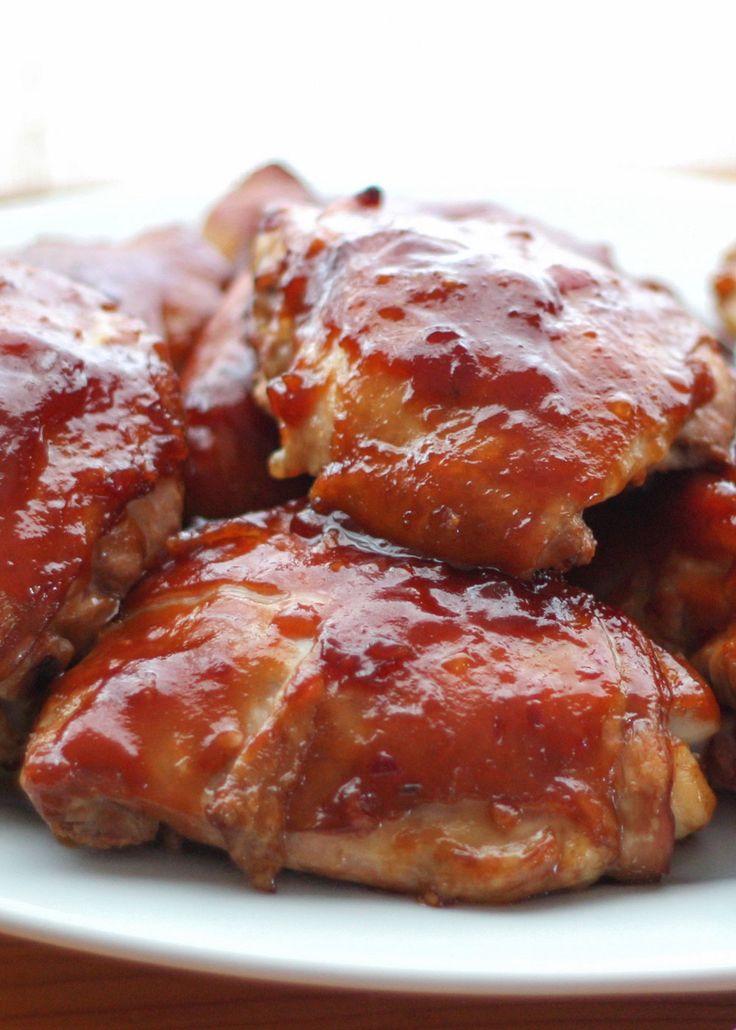 Tangy, sweet, Hawaiian Huli Huli Chicken - Get the recipe at Barefeet In The Kitchen!