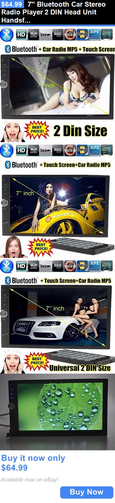 Vintage Radios: 7 Bluetooth Car Stereo Radio Player 2 Din Head Unit Handsfree Touch Screen Usb BUY IT NOW ONLY: $64.99