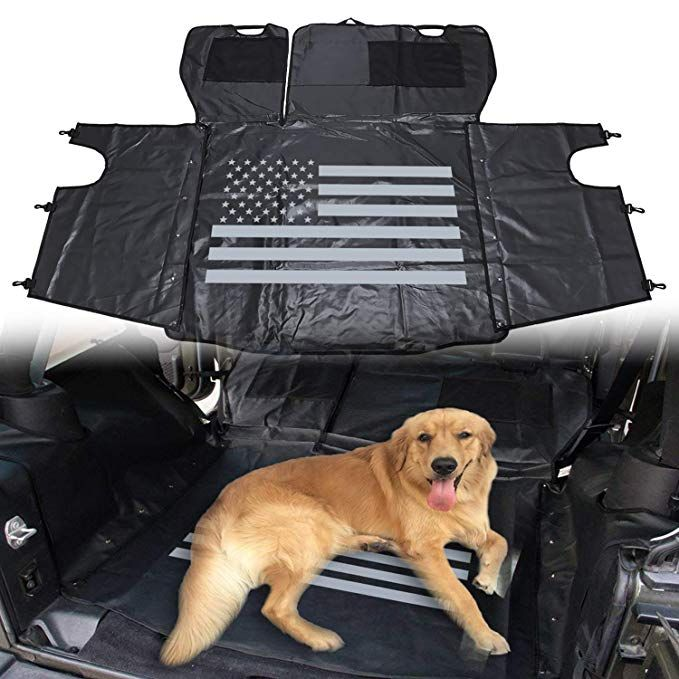 Yoursme Universal Pet Dog Car Seat Cover Us Flag Rear Cargo Liner