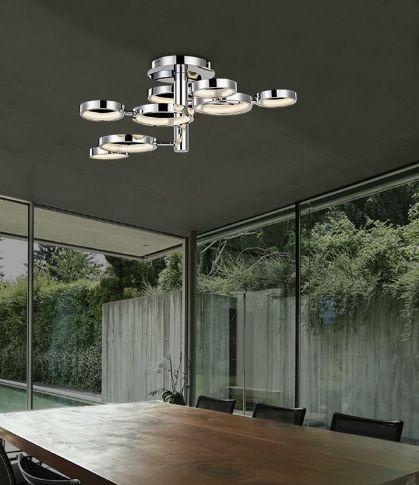 Kourtakis Lighting - LED #φωτιστικο #οροφης από #μεταλλο με δυνατότητα ρύθμισης του σχήματός του. Αλλάξτε όποτε εσείς θέλετε το σχέδιο του φωτιστικού σας και νιώστε ότι μπαίνετε σε ένα καινούριο σπίτι. Δείτε λεπτομέρειες: http://kourtakis-lighting.gr/fotistika-orofis-indoor-fotistika-krebatokamaras-fotistika-saloniou-diakosmisi/3492-led-moderno-fotistiko-orofis-29watt-metallo-akrylliko-nova-luce-mx1302200310a.html