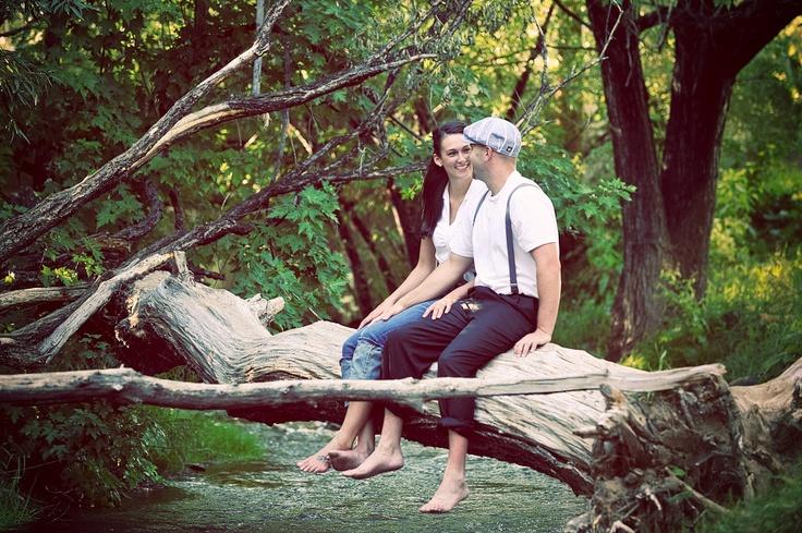 log & creek