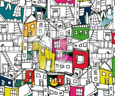 favela by Daniela Brum  thinking a stained glass window