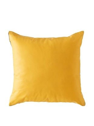Natural Brand Sienna Leather Pillow, Tangerine, 16