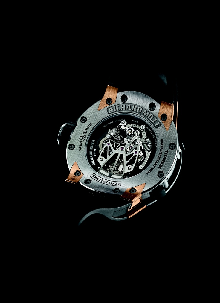 Richard Mille RM 025 Chronograph Diver's watch back 2
