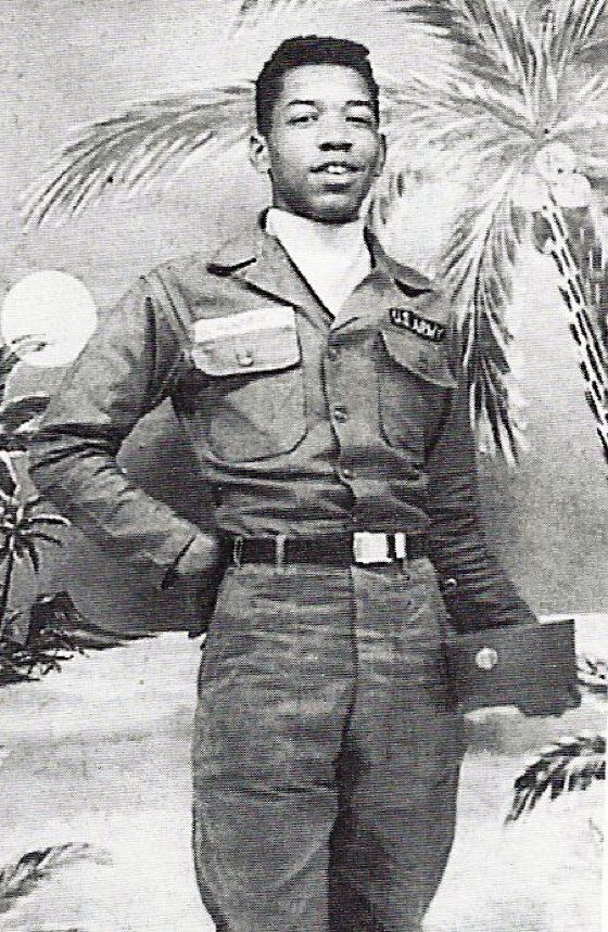 Young Jimi Hendrix in the Army - who would have thunk it. - Jimmy in the army