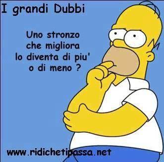 Grandi dubbi:  Uno stronzo che migliora, lo diventa di più o di meno?!? Homer Simpson  Mah!!