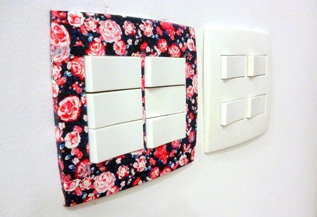 tomada decorada com washi tape