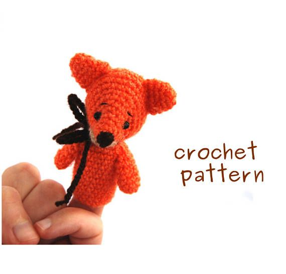 $3.82 #Fox #pattern, #vulpine #finger #puppet #tutorial, #downloadable pdf file, #crochet #fox #pattern, #amigurumi fox #puppet, #how #to #make a #puppet
