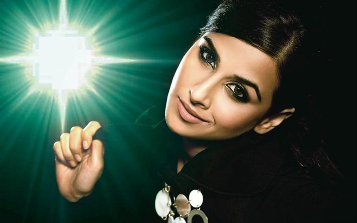 壁紙をダウンロードする Vidya Balan, 4K, インド映画女優, ボリウッド, 肖像, 幅, インドの女性