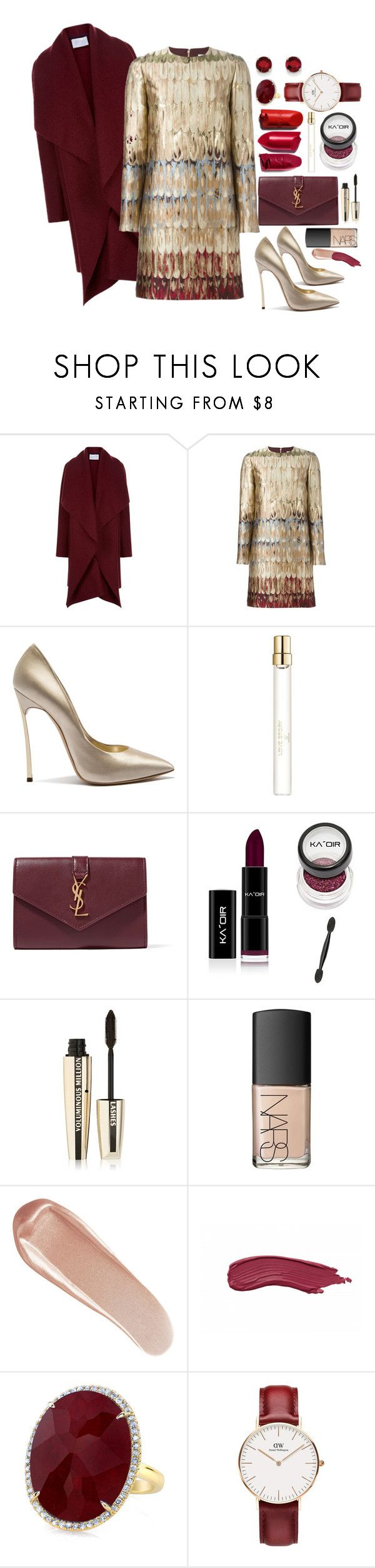 """""""Untitled #419"""" by mayer-fruzsina ❤ liked on Polyvore featuring Harris Wharf London, Valentino, Casadei, Chloé, Yves Saint Laurent, L'Oréal Paris, NARS Cosmetics, Anne Sisteron, Daniel Wellington and Kevin Jewelers"""