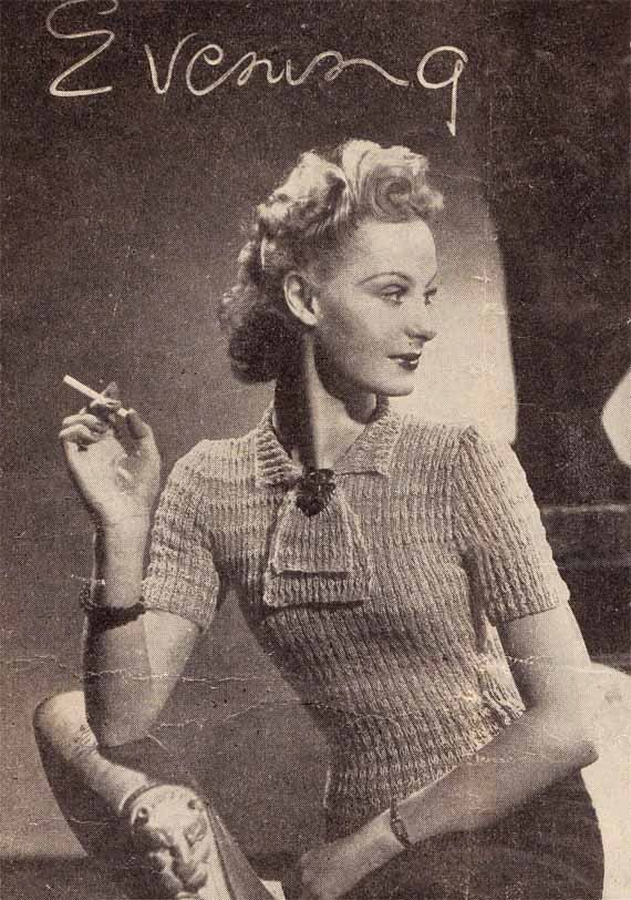 1940s Vintage Pattern to knit CHIC EVENING TOP by GrannyTakesATrip