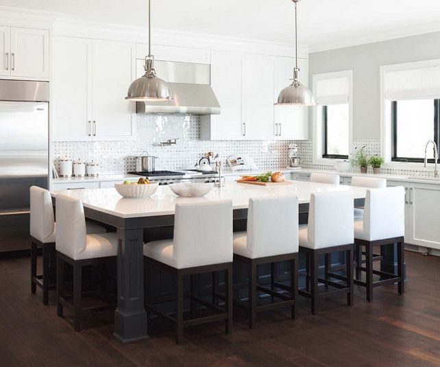 More Ideas Large Kitchen With Island Large Kitchen Design Ideas Large Kitchen Chandeliers Kitchen White Kitchen Design Kitchen Layout Kitchen Island Design