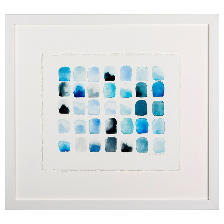 """Study for Blue Squares - Night"" by Chris Crossen: Blue Squares, Chris Crossen, Fantastic Artworks, Longer Avail, Graphics Quotes Art, Lilies, Art Collection, Blue Palettes, Crossen Watercolor"