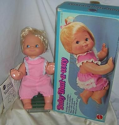 1974 vintage Mattel doll BABY THAT A WAY crawling doll - one of my favorite baby dolls!