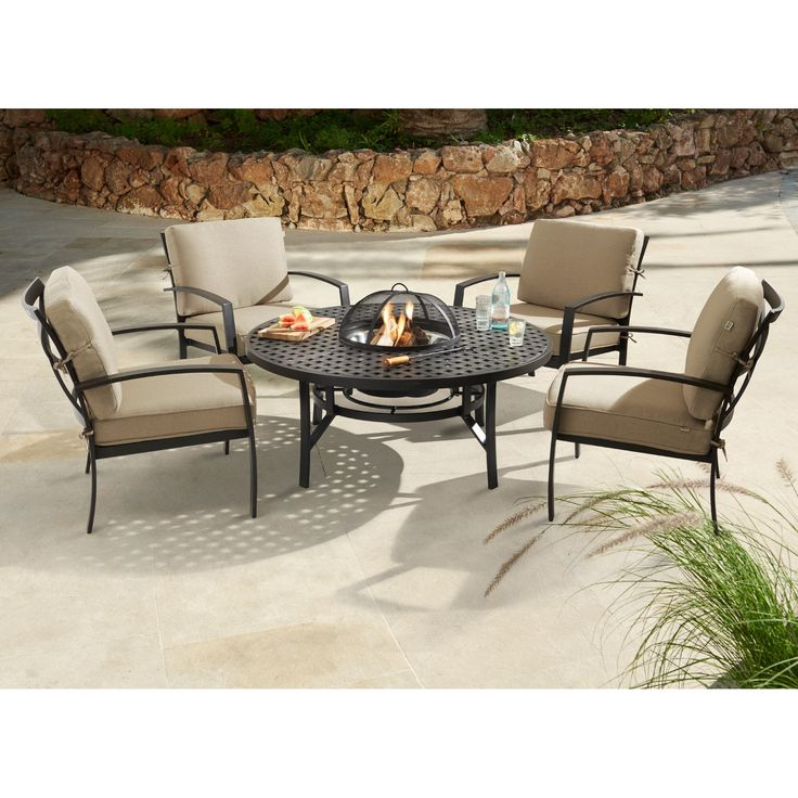 The Range Fire Pit Part - 39: Jamie Oliver Contemporary Fire Pit Set Riven With Pewter Cushions -  (JOCFPSR) Available To Buy Online From Garden Furniture World. We Sell A  Large Range Of ...