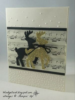 Windy's Wonderful Creations: PP322 Reindeer Christmas, Stampin' Up!, Santa's Sleigh dies, This Christmas DSP