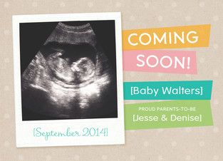 Coming Soon Baby Announcement