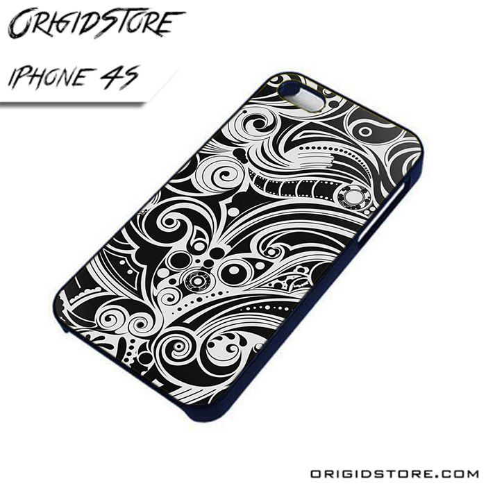 Abstract Black and White AL iPhone 4/4S case