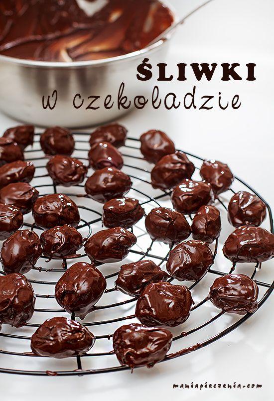 śliwka w czekoladzie, śliwka z rumem w czekoladzie, śliwki w czekoladzie, chocolate and rum prunes,