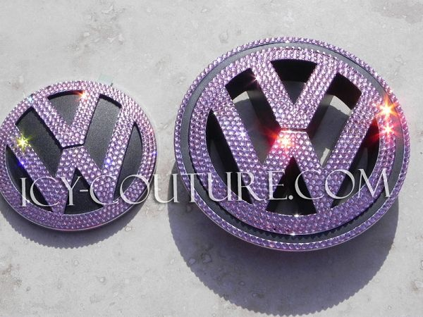 Bling-Bling! :) PINK Icy Couture Swarovski Crystal Volkswagen W Emblem! Whats your color?