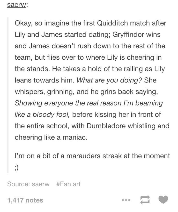 and McGonagall trying to act stern, but failing and smiling because her two favorite students are happy and Gryffindor won the match - take that Slytherin!