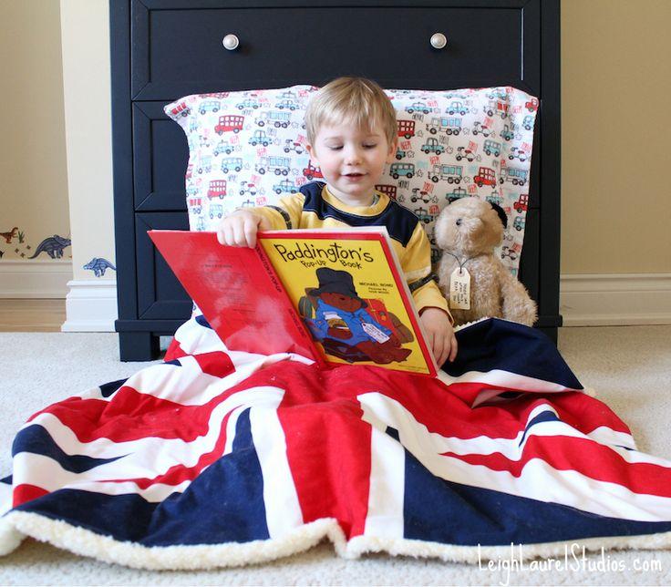 Union Jack Blanket featuring Riley Blake Designs Union Jack Fabric Panel #unionjack #britishflag #rileyblakedesigns