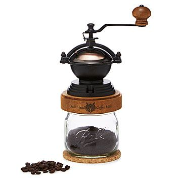 Steampunk Coffee Grinder Crank up your morning with this steampunk-inspired coffee grinder featuring a solid maple cap. $ 65.00
