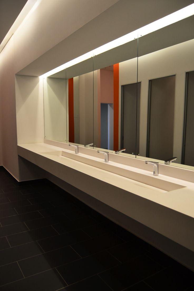 Modern and sleek Slope-away vanity