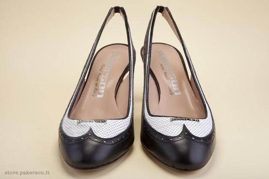 Visit Pakerson Online Store, shop handmade shoes for women. - Visita lo Store Online Pakerson, acquista le scarpe artigianali per donna. http://store.pakerson.it/high-heel-decolletes-27285-nero-bianco.html