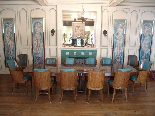 Art Deco Dining Room Good Ideas With Getaways Modern